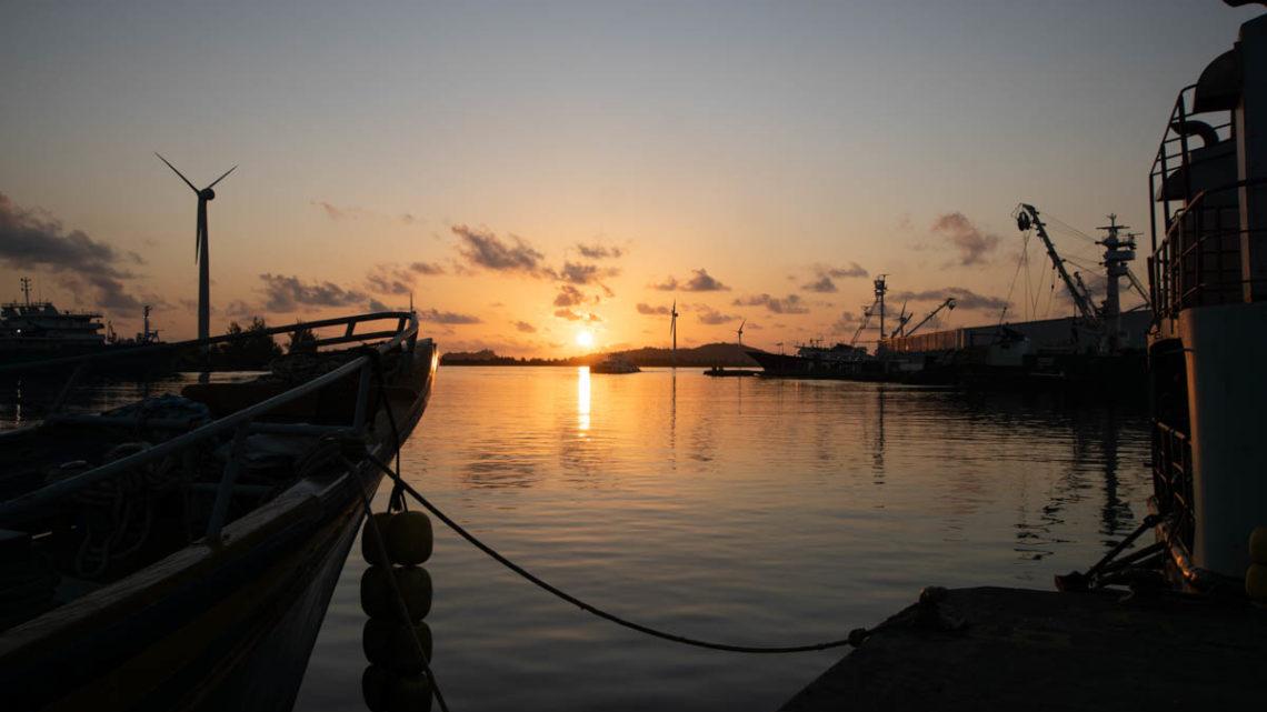 Sonnenaufgang über Mahe